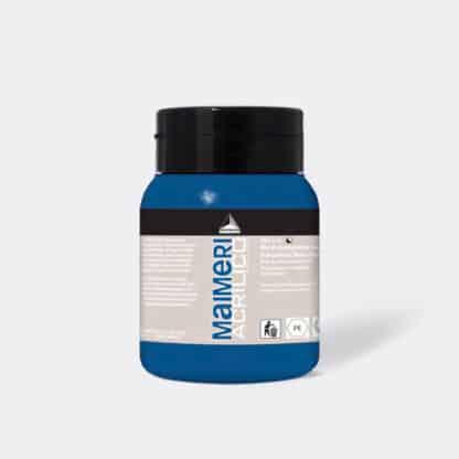 Акриловая краска Acrilico 500 мл 385 марганцево-голубой (имитация) Maimeri Италия