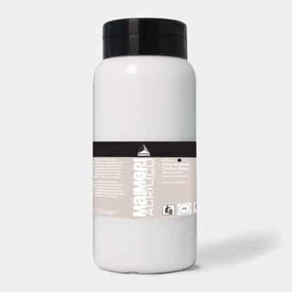 Акриловая краска Acrilico 1000 мл 018 белила титановые Maimeri Италия
