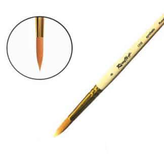 Кисточка «Roubloff» 1310 Синтетика круглая №08 короткая ручка рыжий ворс