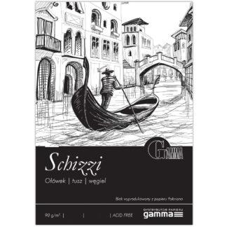 S0902129К100  Склейка для малювання Gamma Schizzi 21х29.7см 100ліст 90гр/м2, проклейка
