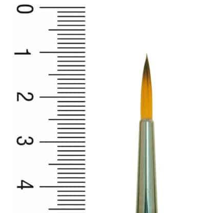 Кисточка 1097R Синтетика круглая №02 короткая ручка Renesans