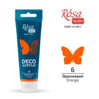 Акрил для декора матовый 06 Оранжевый 75 мл Rosa Talent