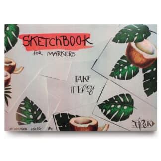 Скетчбук для маркеров А4 (21х29,7 см) 250 г/м.кв. 25 листов «Трек»