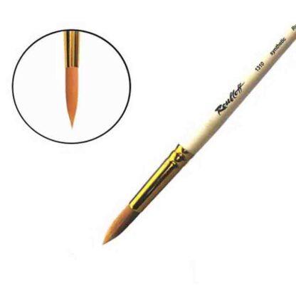 Кисточка «Roubloff» 1310 Синтетика круглая №10 короткая ручка рыжий ворс