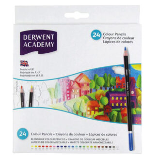 Набор цветных карандашей Academia 24 цвета в картонной коробке Derwent