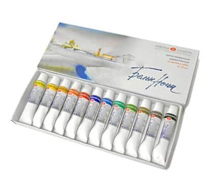 Набор акварельных красок Белые ночи 12 цветов по 10 мл в тубах картонная коробка ЗХК «Невская палитра»