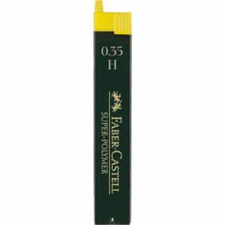 Грифель 0,3 мм H Super-Polymer 12 штук в пенале Faber-Castell 120311