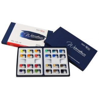 Набор акварельных красок «Классика» Rosa Gallery 24 цвета по 2,5 мл в кюветах картонная коробка