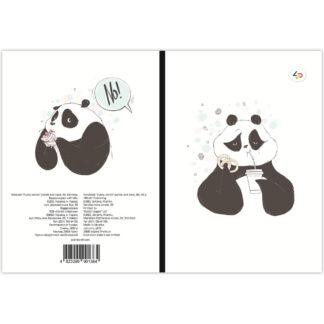 Блокнот «Funny series» panda and cake В6 (125х176 мм) 70 г/м.кв. 80 листов склейка Profiplan