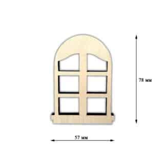 Заготовка деревянная «Декор окошко»  57х78 мм  фанера 17.124