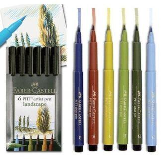 Набор фломастеров «Пейзаж» 6 штук Faber-Castell 167105