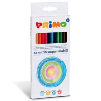 Набор акварельных карандашей Minabella 12 цветов в картонной коробке Primo Италия