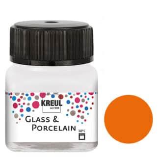 Краска по фарфору и керамике на водной основе KR-16203 Оранжевая 20 мл Hobby Line C.KREUL
