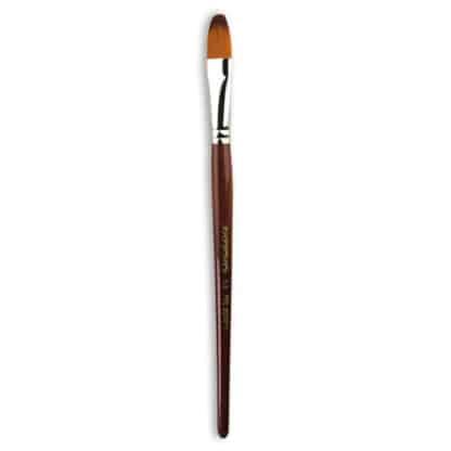 Кисточка «Живопись» 1124 Синтетика овальная № 14 короткая ручка рыжий ворс