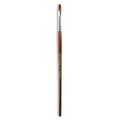 Кисточка «Живопись» 1124 Синтетика овальная № 04 короткая ручка рыжий ворс