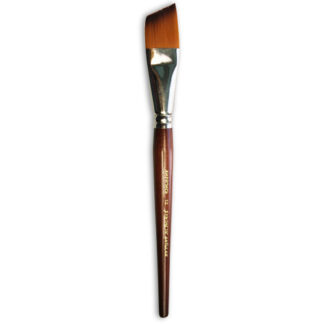 Кисточка «Живопись» 1126 Синтетика скошенная № 12 короткая ручка рыжий ворс