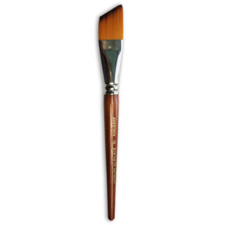 Кисточка «Живопись» 1126 Синтетика скошенная № 16 короткая ручка рыжий ворс