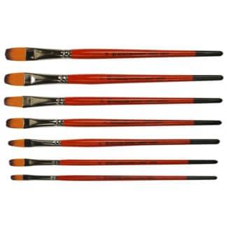 Кисточка «Kolos» Carrot 1097FR Синтетика овальная №10 короткая ручка рыжий ворс