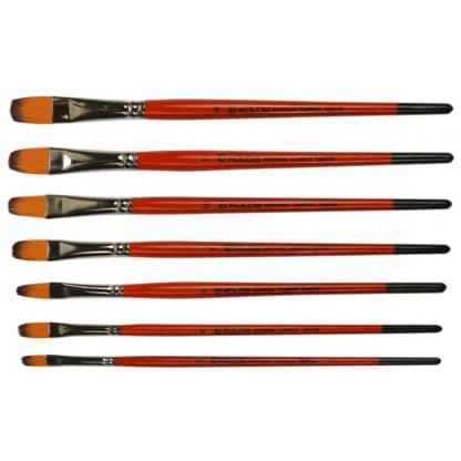 Кисточка «Kolos» Carrot 1097FR Синтетика овальная №14 короткая ручка рыжий ворс