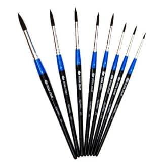 Кисточка «Rosa Start» 211 Белка круглая №08 короткая ручка черный ворс