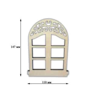 Заготовка деревянная «Декор окошко»  110х147 мм фанера 17.256