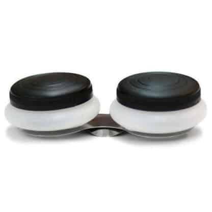 Масленка двойная пластиковая с крышками Ø 4,5х1,7 см (15004) D. K. ART & CRAFT