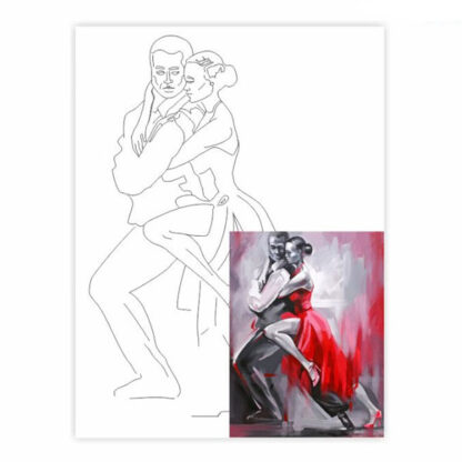 Холст на картоне с контуром 30х40 см «Танго» 4402 Rosa Talent