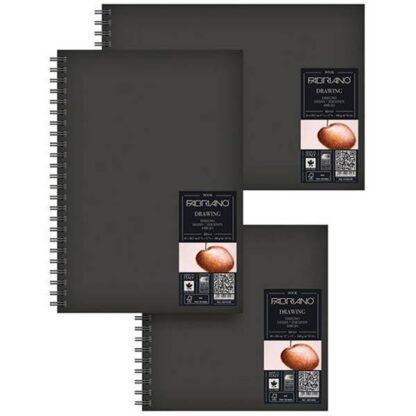 43212129 Альбом для эскизов Drawing Book А4 (21х29,7 см) 160 г/м.кв. 60 листов в твердом переплете на спирали по короткой стороне Fabriano Италия