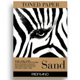 19100496 Альбом для эскизов Sand А4 (21х29,7 см) 120 г/м.кв. 50 листов бумаги крафт склейка Fabriano Италия