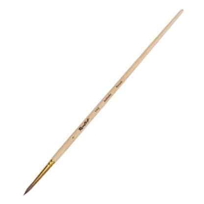 Кисточка «Roubloff» 1110 Колонок круглая №03 короткая ручка рыжий ворс