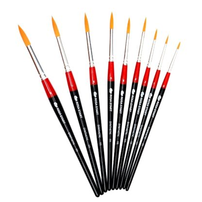 Кисточка «Rosa Start» 111 Синтетика круглая №08 короткая ручка рыжий ворс