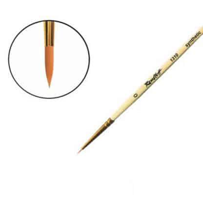 Кисточка «Roubloff» 1310 Синтетика круглая №0 короткая ручка рыжий ворс