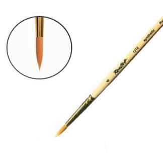 Кисточка «Roubloff» 1310 Синтетика круглая №04 короткая ручка рыжий ворс