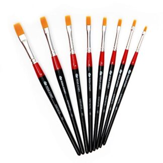 Кисточка «Rosa Start» 101 Синтетика плоская №03 короткая ручка рыжий ворс