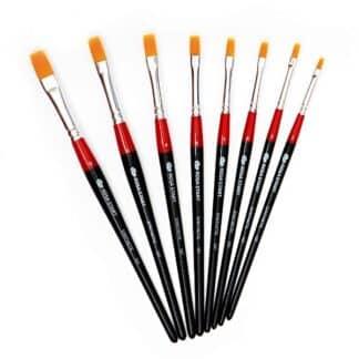 Кисточка «Rosa Start» 101 Синтетика плоская №08 короткая ручка рыжий ворс