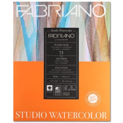 19752005 Альбом для акварели Studio 28х35,6 см 200 г/м.кв. 75 листов Fabriano Италия