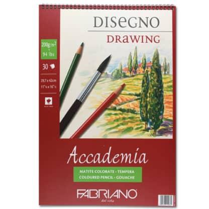 44202942 Альбом для влажных техник на спирали Accademia А3 (29,7х42 см) 200 г/м.кв. 30 листов Fabriano Италия