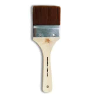 Флейц «Живопись» 6110 Синтетика плоская 3'' коричневый ворс