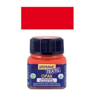 Краска по тканям и коже прочная нерастекающаяся KR-90963 Красный 20 мл Opak Javana C.KREUL