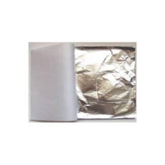 Поталь свободная серебро 14х14 см 25 листов Rosa