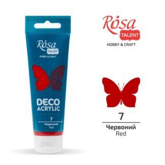Акрил для декора матовый 07 Красный 75 мл Rosa Talent