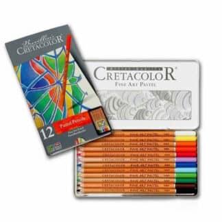 Набор пастельных карандашей Fine Art Pastel 12 цветов в металлической коробке Cretacolor