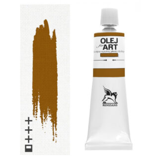 Масляная краска 84 Краповый коричневый 60 мл Renesans Польша