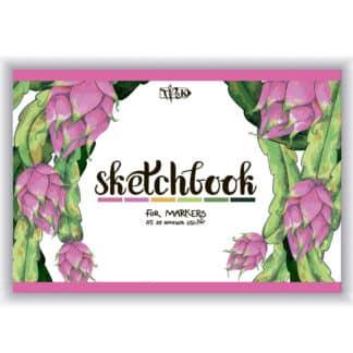 Скетчбук для маркеров (питайя) А5 (14,8х21 см) 250 г/м.кв. 25 листов «Трек»
