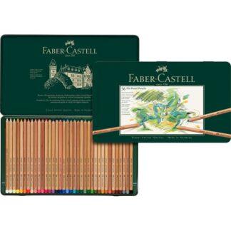 Набор пастельных карандашей Pitt 36 штук в металлическом пенале Faber-Castell