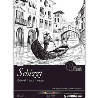 SPS0902129К100  Склейка для малювання Gamma Schizzi 21х29,7см 100ліст 90гр/м2, спираль