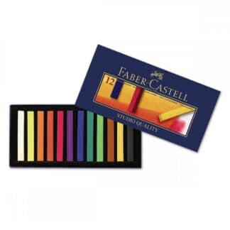 Набор сухой мягкой пастели Goldfaber 12 цветов 70 мм Faber-Castell