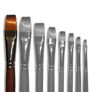 Кисточка «Живопись» 1112 Синтетика плоская № 16 длинная ручка рыжий ворс
