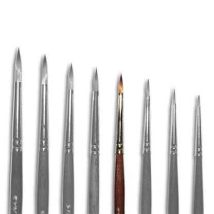 Кисточка «Живопись» 1121 Синтетика круглая № 01 короткая ручка рыжий ворс