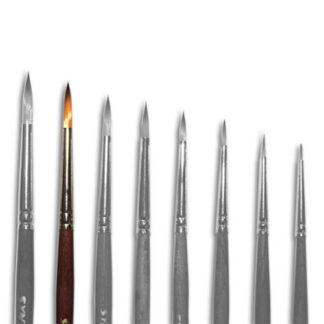 Кисточка «Живопись» 1121 Синтетика круглая № 04 короткая ручка рыжий ворс